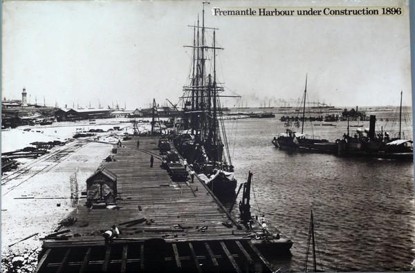 Fremantle Harbour under construction