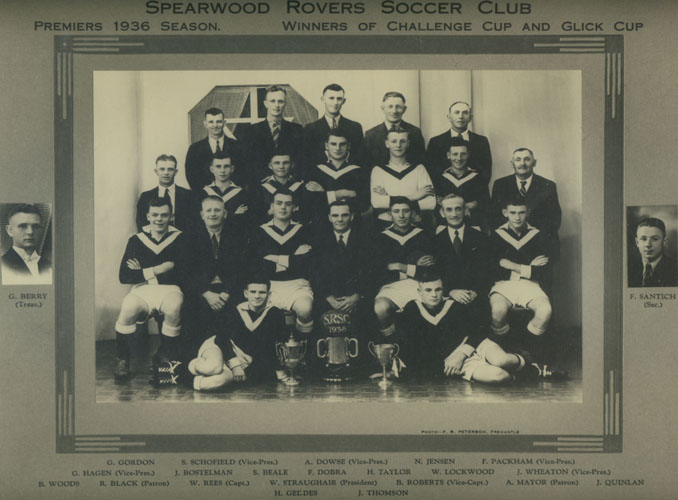 Spearwood Rovers Soccer Club, 1936
