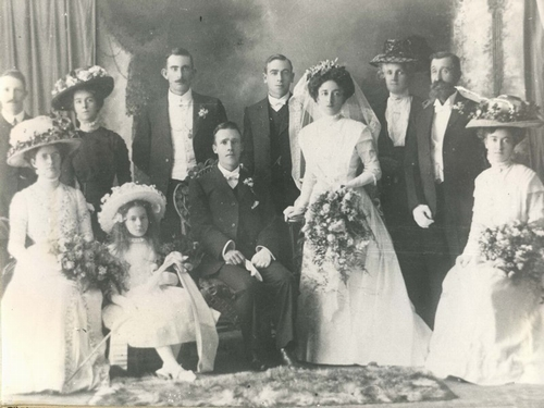 Unknown wedding group from Albert Powell Collection, c1900