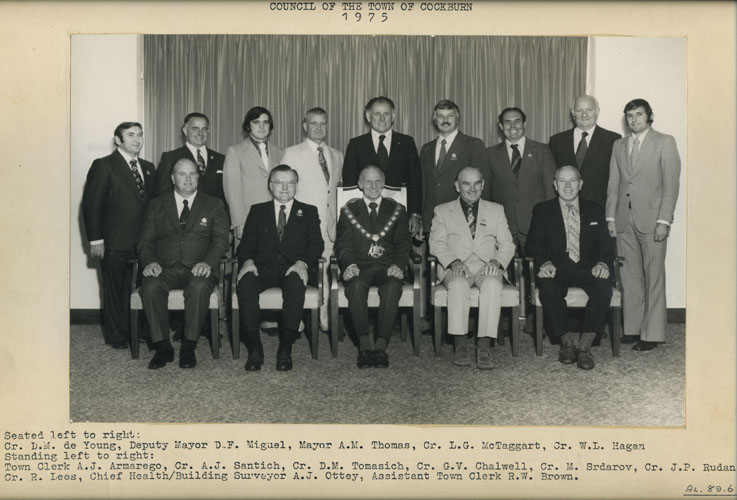 Town of Cockburn Councillors, 1975