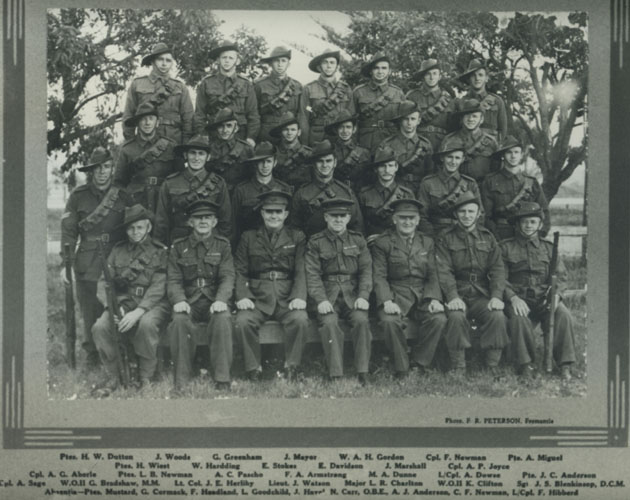 Spearwood Volunteer Defence Corps, c1943, with names