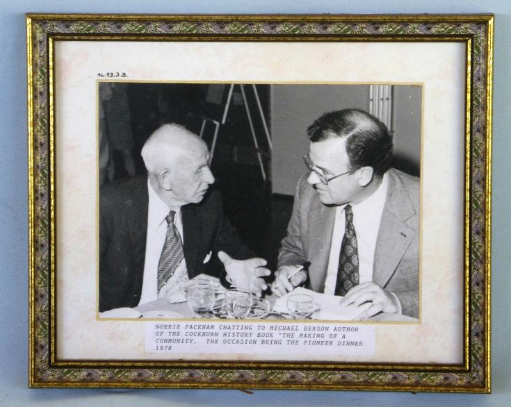 Pioneer Dinner : Norrie Packham & Michael Berson