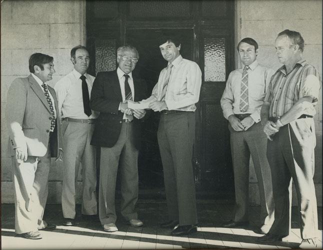 Presentation of cheque for Manning Homestead restoration
